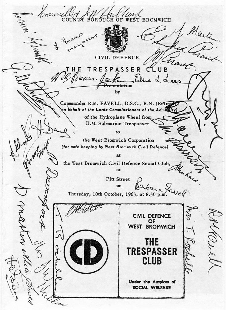 H.M.Submarine Trespasser event