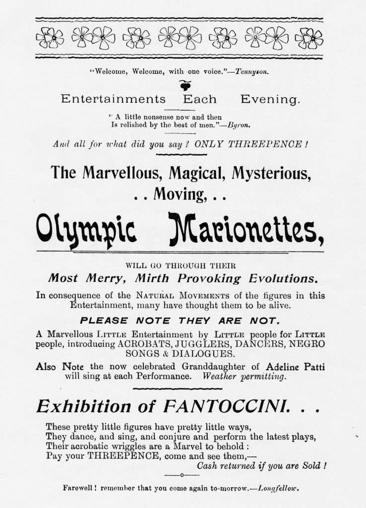 Olympic Marionettes at Town Hall Poster