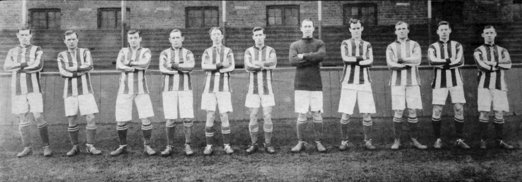 Photograph by Albert Wilkes Senior of the Albion team at the start of the 1914 season, soon to be curtailed by the outbreak of war.